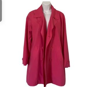 IZOD trench coat pink button up outerwear